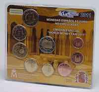 Spanien : 5,88 Euro offizieller Messesatz zur World Money Fair in Berlin 2011 - enthält auch die 2 Euro Gedenkmünze Alhambra  2011 Stgl.
