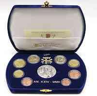 Vatikan : 3,88 Euro original Kursmünzensatz aus dem Vatikan  2002 PP KMS Vatikan 2002 PP