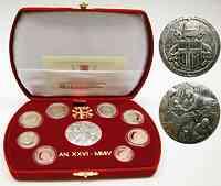 Vatikan : 3,88 Euro original Kursmünzensatz aus dem Vatikan in Originaletui mit Zertifikat 2004 PP