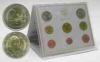 Vatikan : 3,88 Euro original Kursmünzensatz aus dem Vatikan - erster Satz Papst Benedikt XVI.  2006 Stgl. KMS Vatikan 2006; Papst Benedikt XVI.;Joseph Alois Ratzinger