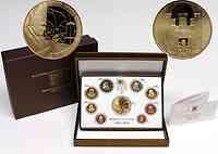 Vatikan : 3,88 Euro original Kursmünzensatz aus dem Vatikan mit Goldmedaille  2011 PP
