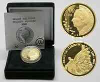 Belgien : 100 Euro 175 Jahre Unabhängigkeit inkl. Originaletui und Zertifikat 2005 PP