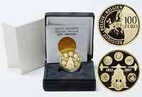 Belgien : 100 Euro 175 Jahre Münzprägung inkl. Originaletui und Zertifikat  2007 PP