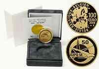Belgien : 100 Euro Expo Brüssel 1958 inkl. Originaletui und Zertifikat  2008 PP 100 Euro Expo Belgien 2008