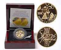 Finnland : 100 Euro 90. Jahrestag der Unabhängigkeit inkl. Originaletui und Zertifikat  2007 PP