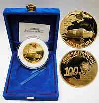 Frankreich : 100 Euro Charles Lindbergh, inkl. Originaletui und Zertifikat - Auflage nur 99 Stück - 5 Unzen Gold !  2002 PP