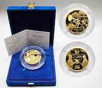 Frankreich : 100 Euro Verkauf des Staates Louisiana an die USA, inkl. Originaletui und Zertifikat  - Auflage nur 99 Stück - 5 Unzen Gold !  2003 PP