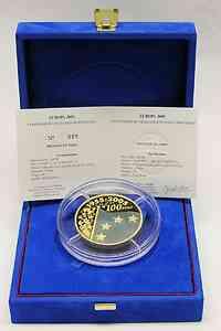 Frankreich : 100 Euro Europa-Münze - blaues Gold, incl. Originaletui und Zertifikat  2005 PP