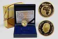 Spanien : 100 Euro Fußball WM 2010 inkl. Originaletui und Zertifikat 2009 PP