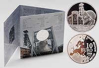 Belgien : 10 Euro Marcinelle Grubenunglück im Originalblister  2006 PP 10 Euro Grubenunglück