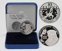 Belgien : 10 Euro Encomium Moriae des Erasmus von Rotterdam inkl. Originaletui und Zertifikat  2009 PP 10 Euro Erasmus von Rotterdam