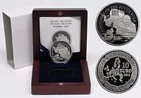 Belgien : 10 Euro Amundsen Entdeckung des Südpols in Zusammenarbeit mit Norwegen  2011 PP