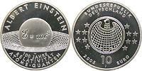 Deutschland : 10 Euro Albert Einstein in Originalkapsel 2005 PP