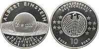 Deutschland : 10 Euro Albert Einstein in Originalkapsel  2005 PP