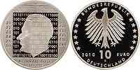 Deutschland : 10 Euro 100. Geburtstag von Konrad Zuse in Originalkapsel  2010 PP