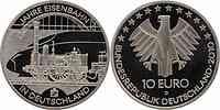 Deutschland : 10 Euro 175 Jahre Eisenbahn in Deutschland  2010 Stgl.
