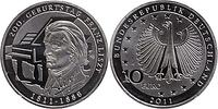 Deutschland : 10 Euro 200. Geburtstag Franz Liszt  2011 Stgl.