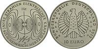 Deutschland : 10 Euro 125 Jahre Strahlen elektrischer Kraft - Heinrich Hertz  2013 Stgl.
