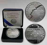 Finnland : 10 Euro Unbekannter Soldat inkl. Originaletui und Zertifikat  2005 PP