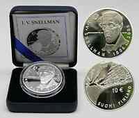 Finnland : 10 Euro J.V. Snellmann inkl. Originaletui und Zertifikat  2006 PP 10 Euro Snellmann 2006;10 Euro Finnland 2006