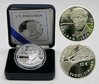Finnland 10 Euro J.V. Snellmann 2006 PP original