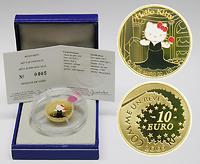 Frankreich : 10 Euro Kitty im Theater inkl. Originaletui und Zertifikat  2005 PP Hello Kitty,10 Euro Kitty,10 Euro Frankreich