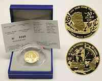 Frankreich : 10 Euro In 80 Tagen um die Welt, inkl. Originaletui und Zertifikat  2005 PP 10 Euro Jules Verne Gold; In 80 Tagen um die Welt