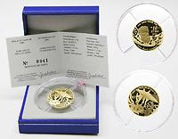 Frankreich : 10 Euro 20000 Meilen unter dem Meer, inkl. Originaletui und Zertifikat  2005 PP 10 Euro Jules Verne Gold; 20000 Meilen unter dem Meer