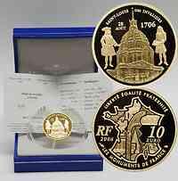 Frankreich : 10 Euro Invalidendom inkl. Originaletui und Zertifikat  2006 PP 10 Euro Invalidendom 2006