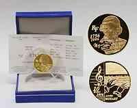 Frankreich 10 Euro Mozart 2006 PP GOLD