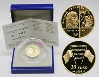 Frankreich : 10 Euro Benjamin Franklin 1706-2006 inkl. Originaletui und Zertifikat  2006 PP Benjamin Franklin 2006