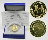 Frankreich : 10 Euro Fechten inkl. Originaletui und Zertifikat  2006 PP 10 Euro Frankreich 2006;Fechten