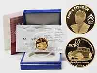 Frankreich : 10 Euro Citroen inkl. Originaletui und Zertifikat  2008 PP 10 Euro Citroen