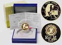 Frankreich : 10 Euro Adelie Land inkl. Originaletui und Zertifikat  2008 PP 10 Euro Polarjahr 2008