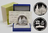 Frankreich : 10 Euro Moskauer Kreml inkl. Originaletui und Zertifikat  2009 PP
