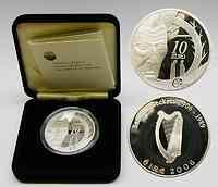 Irland : 10 Euro Samuel Beckett inkl. Originaletui und Zertifikat  2006 PP 10 Euro Beckett