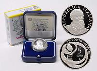 Italien : 5 Euro Antonio Meucci  2008 PP 5 Euro Meucci