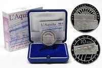 Italien : 10 Euro L'Aquila inkl. Originaletui und Zertifikat  2009 PP