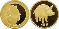 Luxemburg : 10 Euro Wildschwein vom Titelberg in Originalkapsel  2006 PP 10 Euro Wildschwein