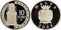 Malta : 10 Euro Auberge de Castille  2008 PP 10 Euro Malta 2008
