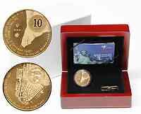 Niederlande 10 Euro 400 Jahre Beziehung zu New York 2009 PP