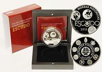 Portugal : 10 Euro Escudo inkl. Originaletui und Zertifikat  2010 PP