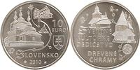 Slowakei : 10 Euro Holzkirchen in den Karpaten in Originalkapsel  2010 Stgl.