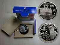 Spanien : 10 Euro 1. Casa Milà inkl. Zertifikat und Originalholzkassette 2002 PP
