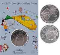 Frankreich : 1/4 Euro 10 Jahre TGV im Originalblister  2006 PP 10 Jahre TGV; TGW