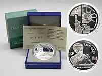 Frankreich : 1,5 Euro Bartholdi inkl. Originaletui und Zertifikat  2004 PP