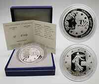 Frankreich : 1,5 Euro Die Säerin inkl. Originaletui und Zertifikat 2004 PP