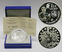 Frankreich : 1,5 Euro Europa-Münze, incl. Originaletui und Zertifikat  2006 PP 1,5 Euro Europa 2006
