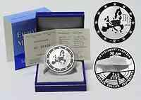 Frankreich : 1,5 Euro 50 Jahre Europäisches Parlament in Strasbourg inkl. Originaletui und Zertifikat  2008 PP