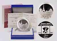 Frankreich : 1,5 Euro Hauptstädte Paris-Tokio inkl. Originaletui und Zertifikat  2008 PP 1,5  Euro Paris Tokio